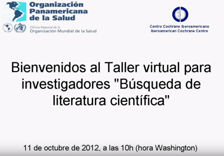 Búsqueda de literatura científica