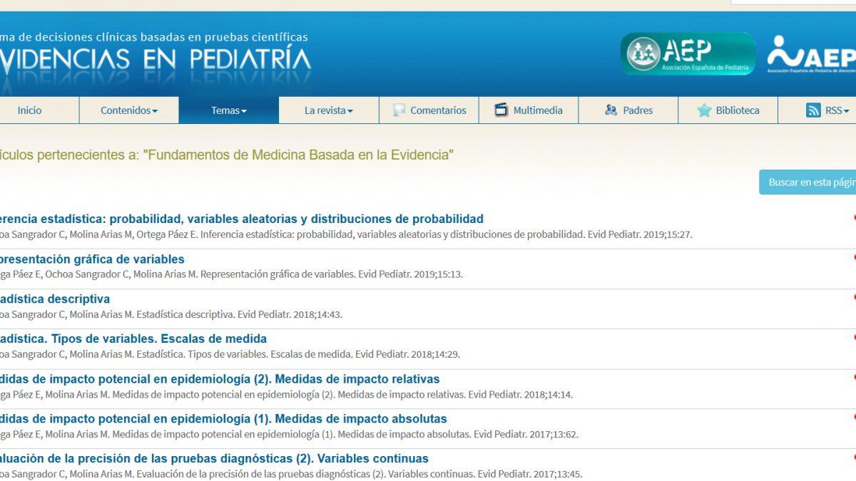 Fundamentos de MBE en Evidencias en Pediatría